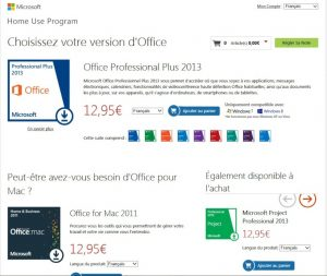 Office2013 Achat